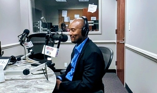Melissa Foreman interviews Sultan A. Salahuddinfor WLIT 93.9 FM(plus, Kiss 103.5 FM and Big 95.5 FM)