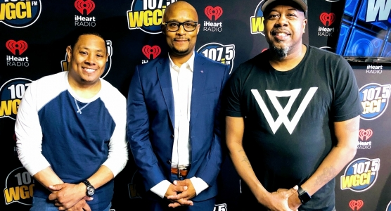 WGCI Morning Show w/Kyle, Sultan A. Salahuddin, Leon Rogers (and Kendra, not pictured)